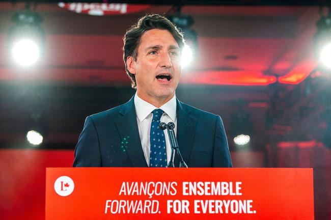 Canada PM Trudeau wins historic third term but falls short of majority