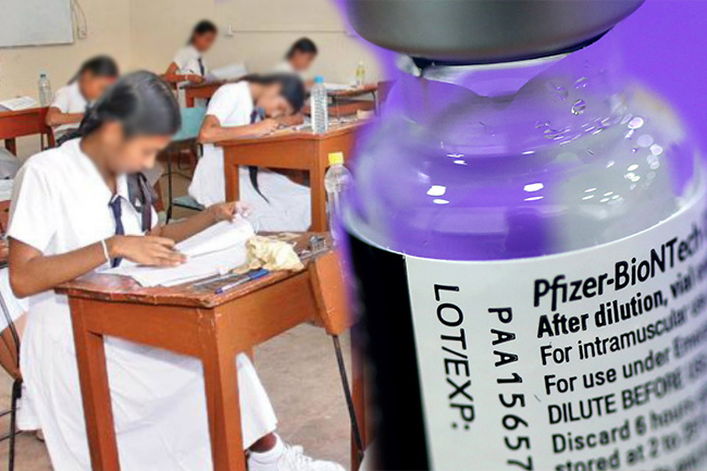 Pfizer COVID vaccine to be given to A/L exam candidates