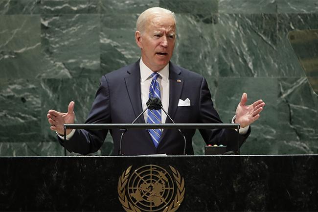 U.S. opening an 'era of relentless diplomacy' - Biden says in first UN address