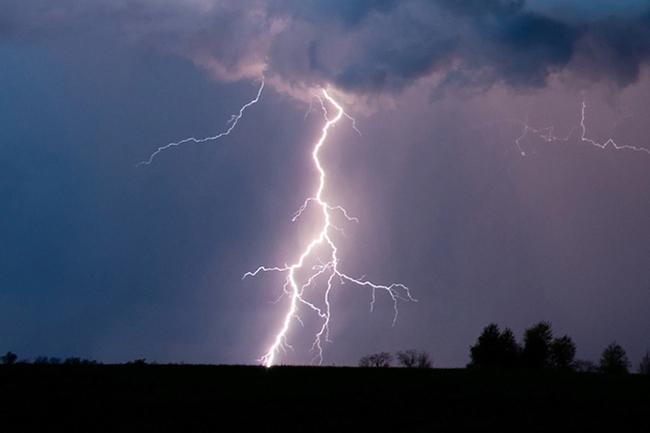 Advisory issued for thundershowers accompanied by severe lightning