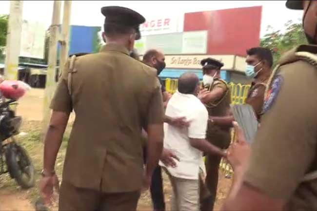 TNPF MP Selvarasa Gajendran released on police bail