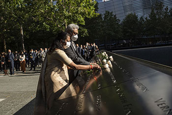 President pays tribute to 9/11 victims...