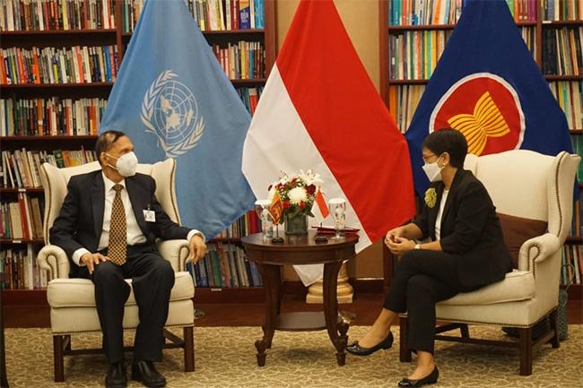 Talks between Sri Lanka, Indonesia on Indian Ocean security and counter-terrorism