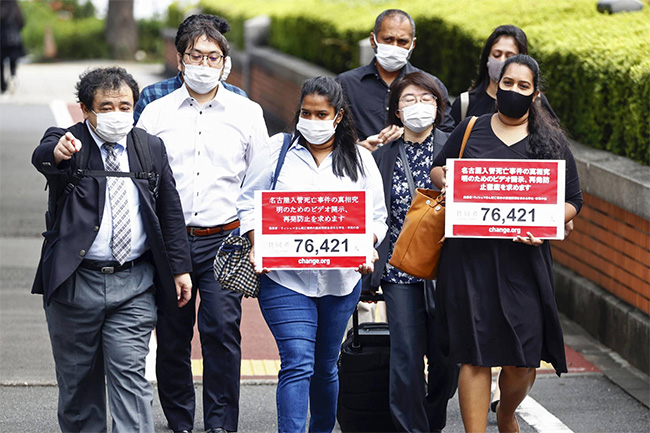 Kin of Sri Lankan who died in detention urges Japan immigration to accept responsibility