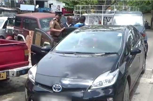 Car used by main suspect in Rajagiriya drug raid incident seized