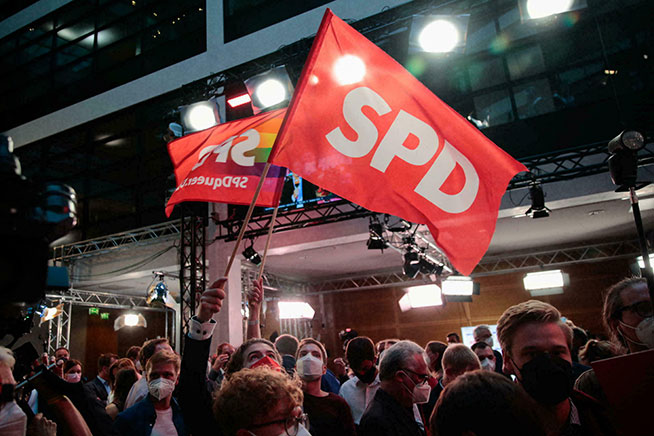 German Elections: Social Democrats narrowly beat Merkel's party
