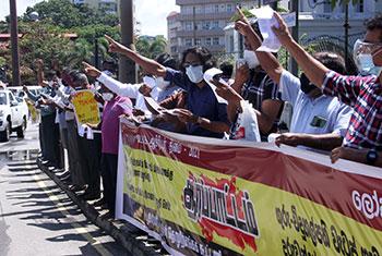 Teachers protest on Teachers' Day...