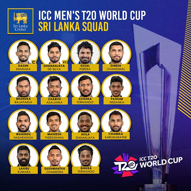 Sri Lanka's 15-member squad for T20 World Cup 2021