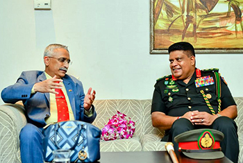 Indian Army Chief in Sri Lanka for goodwill visit…
