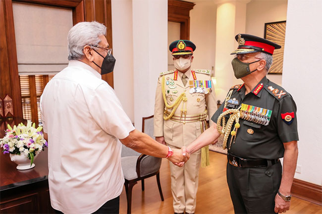Indian Army chief meets Sri Lankan President and PM