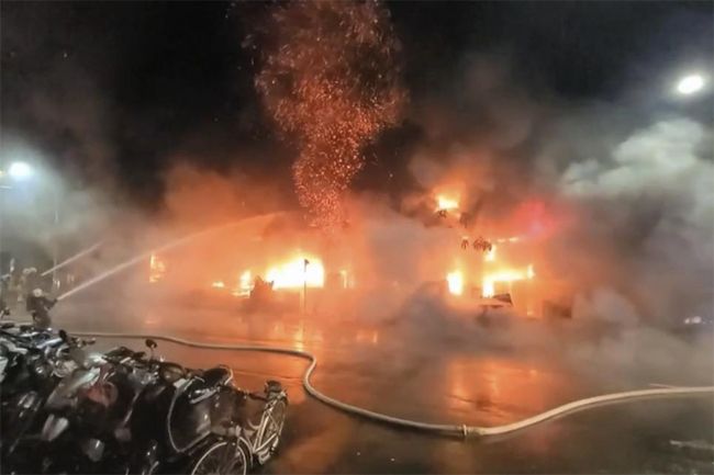 Fire in Taiwan leaves at least 46 dead, dozens injured