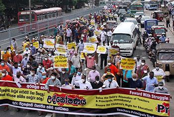 Teachers-principals protest...