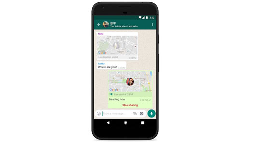 WhatsApp introduces live location sharing