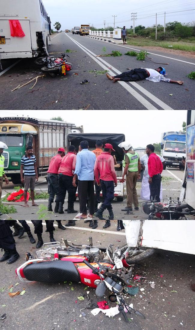 Motorcyclist killed following collision in Kilinochchi
