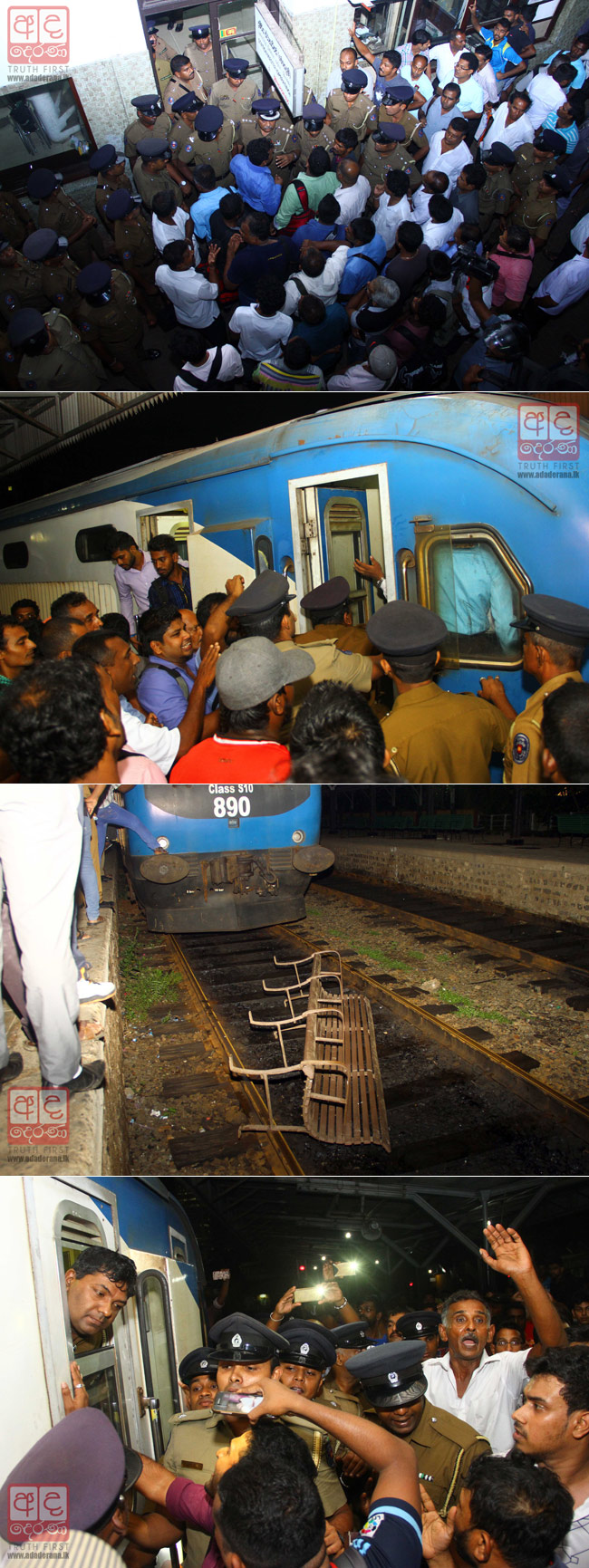 Violence at Fort Railway Station...