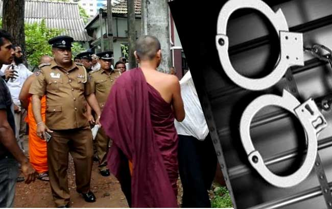 Ven. Arambepola Rathanasara Thero arrested