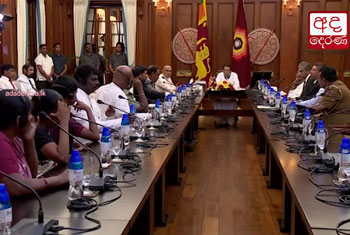 Family members of the LTTE detainees meet President